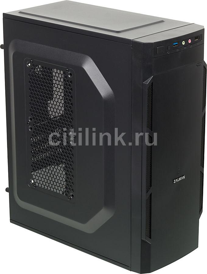Корпус mATX ZALMAN ZM-T1, Mini-Tower, без БП,  черный