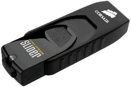 Флешка USB CORSAIR Voyager Slider 256Гб, USB3.0, черный [cmfsl3b-256gb]