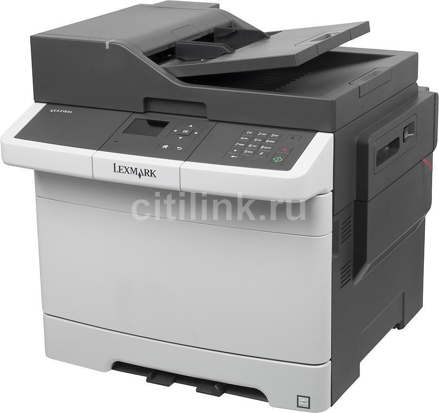 МФУ LEXMARK CX310dn,  A4,  цветной,  лазерный,  белый [28c0566]
