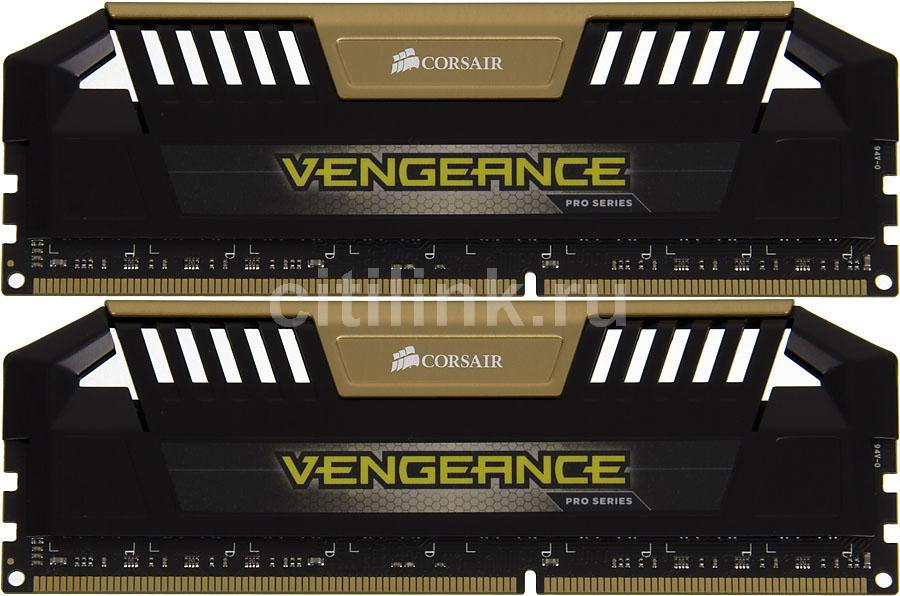 Модуль памяти CORSAIR Vengeance Pro CMY16GX3M2A1600C9A DDR3 -  2x 8Гб 1600, DIMM,  Ret