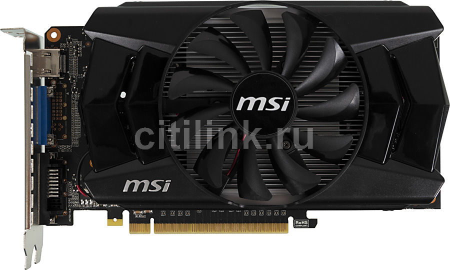 Видеокарта MSI GeForce GTX 750Ti,  2Гб, GDDR5, OC,  Ret [n750ti-2gd5/oc]