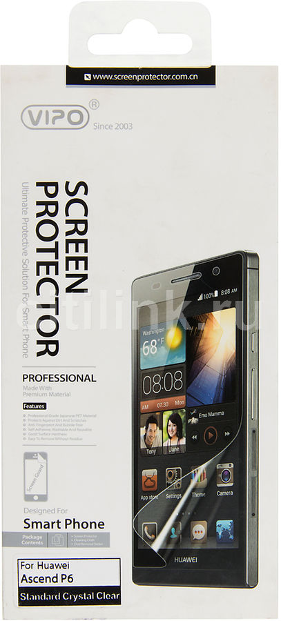 Защитная пленка VIPO для Huawei Ascend P6,  прозрачная, 1 шт