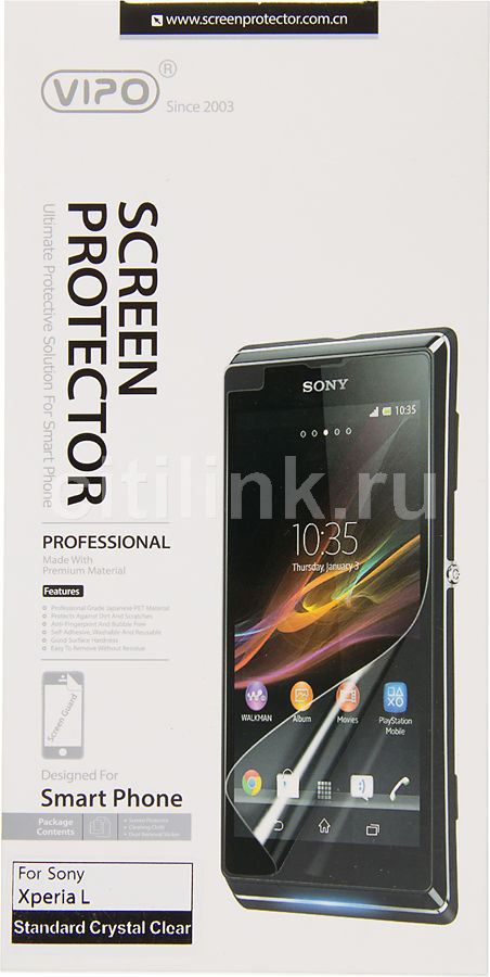 Защитная пленка VIPO для Sony Xperia L,  прозрачная, 1 шт