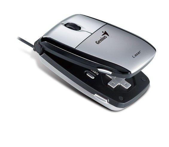 Мышь GENIUS Navigator 365 лазерная проводная USB, серебристый [gm-navigator 365]