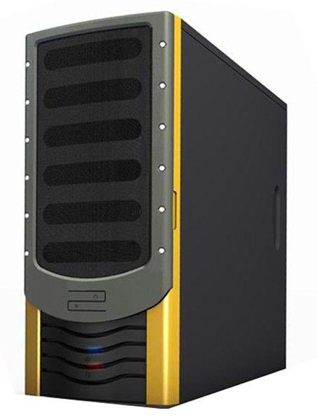 Корпус ATX FOXCONN ZL-142A, 350Вт,  черный и желтый