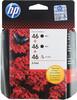 Набор картриджей HP 46 многоцветный / черный [f6t40ae] вид 1