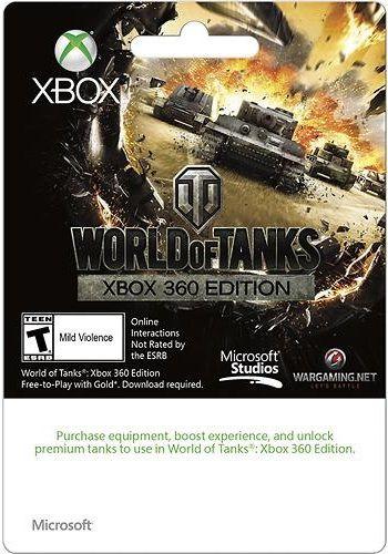 Карта оплаты MICROSOFT Xbox Live 500 RUB World of Tank Edition, для  Xbox [k4w-01233]