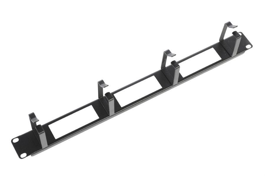 Кабельный органайзер Горизонтальный ЦМО (ГКО-О-4.62-9005) односторонний кольца 1U шир.:19