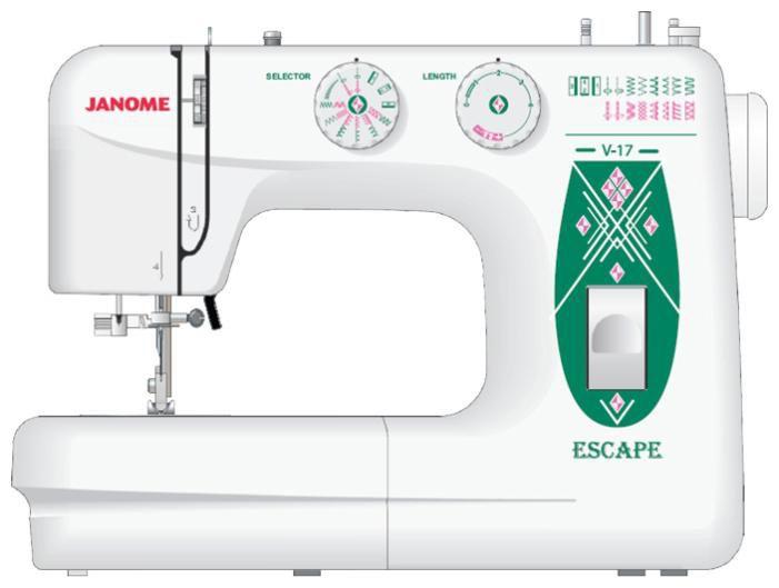 Швейная машина JANOME Escape V-17 белый [es.v-17]