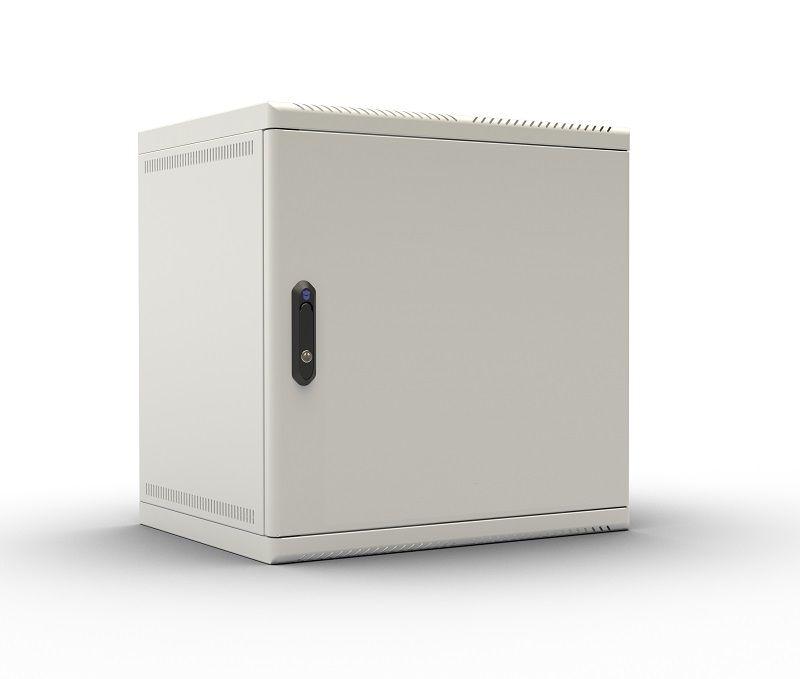 Шкаф настенный ЦМО (ШРН-6.300.1) 6U 600x300мм пер.дв.стал.лист несъемные бок.пан. 50кг серый