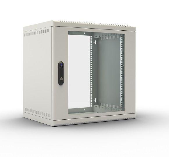 Шкаф настенный ЦМО (ШРН-М-12.650) 12U 600x650мм пер.дв.стекл съемные бок.пан. 50кг серый
