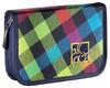 Пенал All Out Plymouth Rainbow Check желтый/розовый/голубой/черный