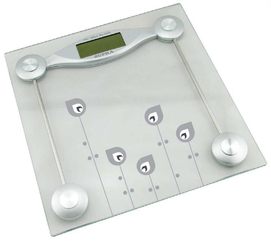 Напольные весы SUPRA BSS-2061, до 180кг, цвет: серебристый [5941]