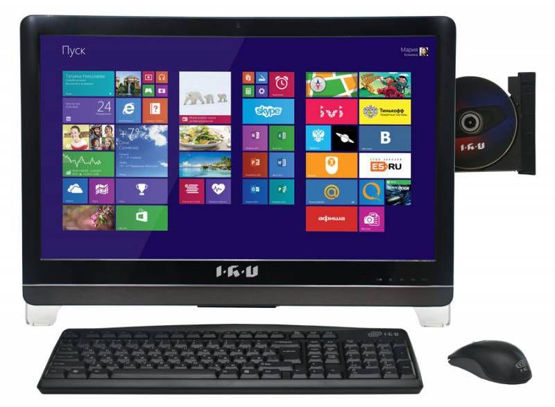 Моноблок IRU 310, Intel Core i3 4130, 4Гб, 1000Гб, nVIDIA GeForce GT740M - 1024 Мб, DVD-RW, Free DOS, черный