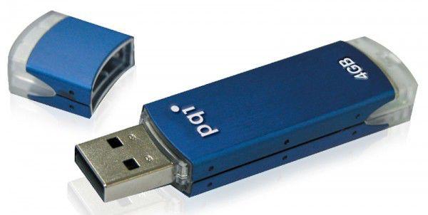 Флешка USB PQI Cool Drive U339S 4Гб, USB2.0, голубой
