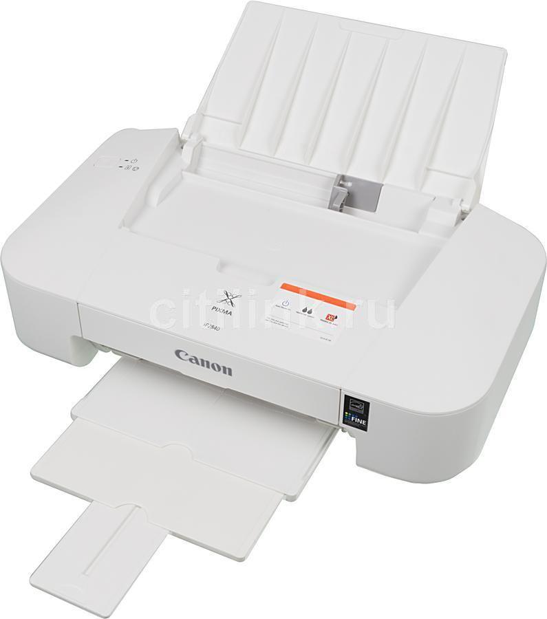 Принтер струйный CANON PIXMA iP2840,  струйный, цвет: белый [8745b007]