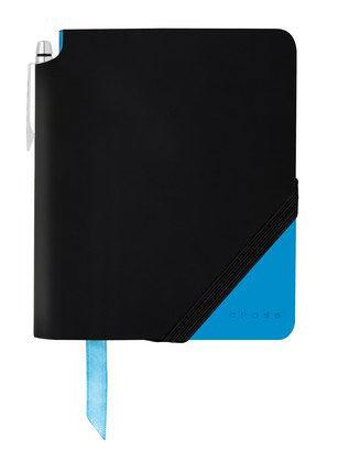 Записная книжка Cross Jot Zone (AC273-3S) черный/ярко-синий 160стр. в линейку в компл.:ручка 14х12см