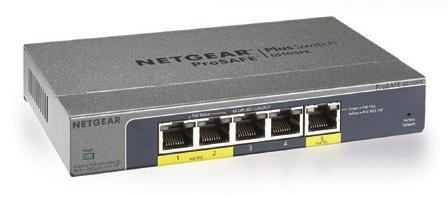 Коммутатор NETGEAR ProSafe GS105PE-100EUS, GS105PE-100EUS