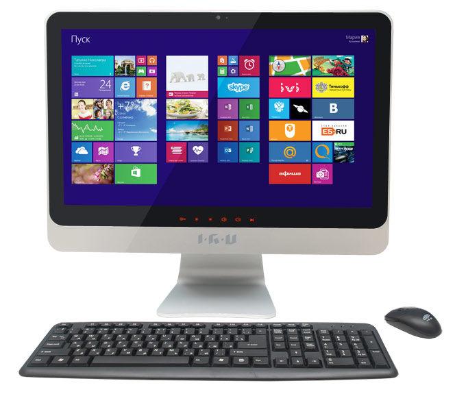 Моноблок IRU 207, Intel Core i5 3230M, 4Гб, 1000Гб, Intel HD Graphics 4000, DVD-RW, Windows 7 Professional, черный и серебристый