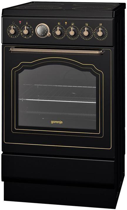 Электрическая плита GORENJE EC55CLB1,  стеклокерамика,  черный