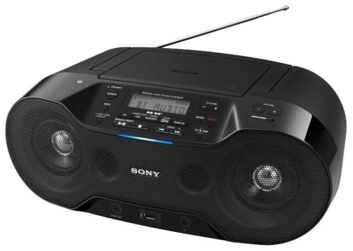 Аудиомагнитола SONY ZS-RS70BT,  черный