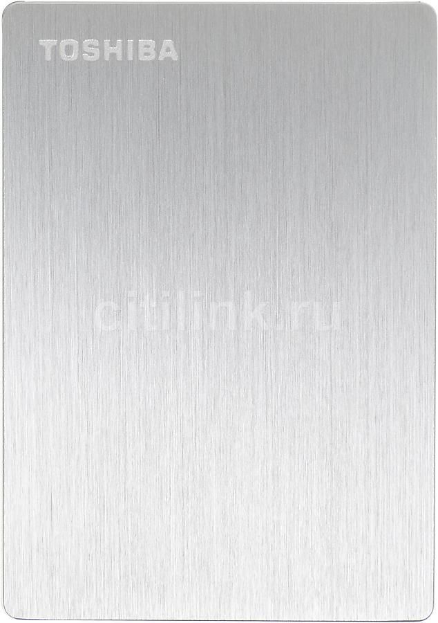 Внешний жесткий диск TOSHIBA Canvio Slim HDTD205ESMDA, 500Гб, серебристый