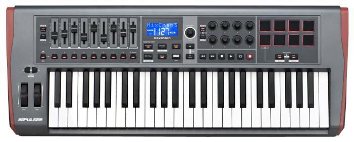 Клавиатура MIDI Novation Impulse 49 клав.:49 корпус:пластик темно-серый