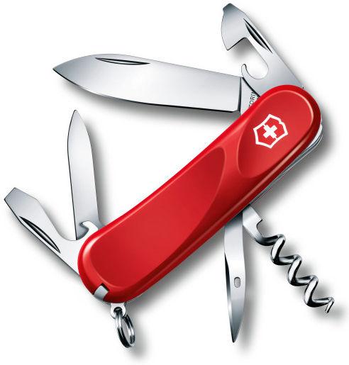 Нож перочинный Victorinox Evolution 10 (2.3803.E) 85мм 14функций красный карт.коробка
