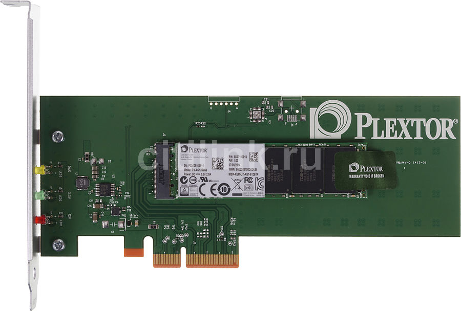 SSD накопитель PLEXTOR M6e PX-AG128M6e 128Гб, PCI-E AIC (add-in-card), PCI-E x2