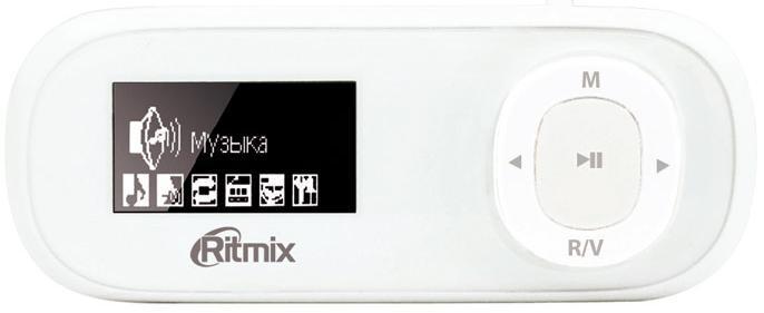 MP3 плеер RITMIX RF-3400 flash 4Гб белый [15116920]