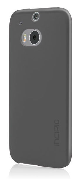Чехол (клип-кейс) INCIPIO Feather (HT-397-GRY), для HTC One M8, серый