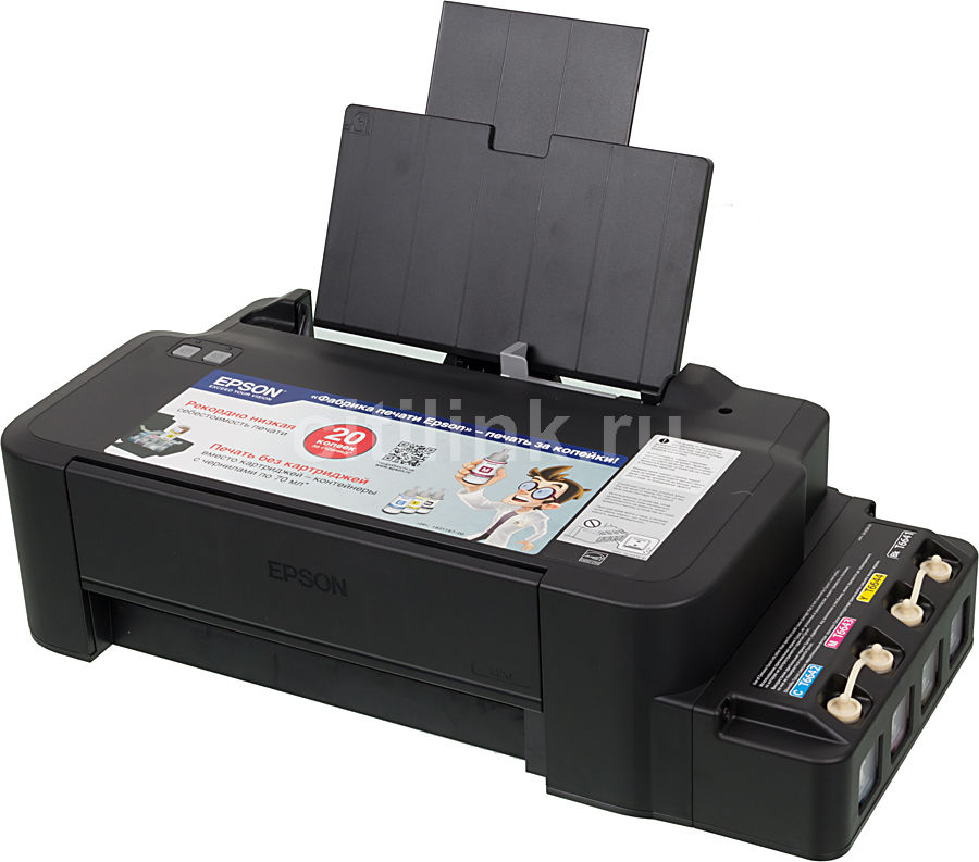 Принтер EPSON L120,  струйный, цвет: черный [c11cd76302]