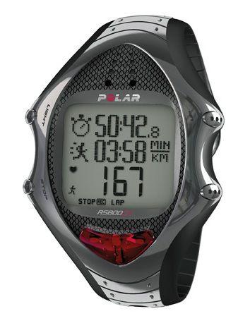 Часы-пульсометр Polar RS800CXN серебристый [90043419]