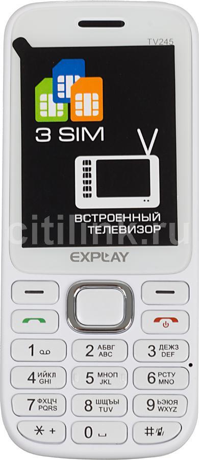 Мобильный телефон EXPLAY TV245,  белый