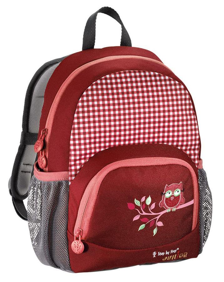 Рюкзак детский Step By Step Junior Dressy Cute owl красный/розовый Сова [00129054]