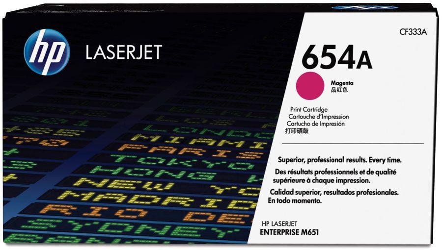 Картридж HP 654A пурпурный [cf333a]