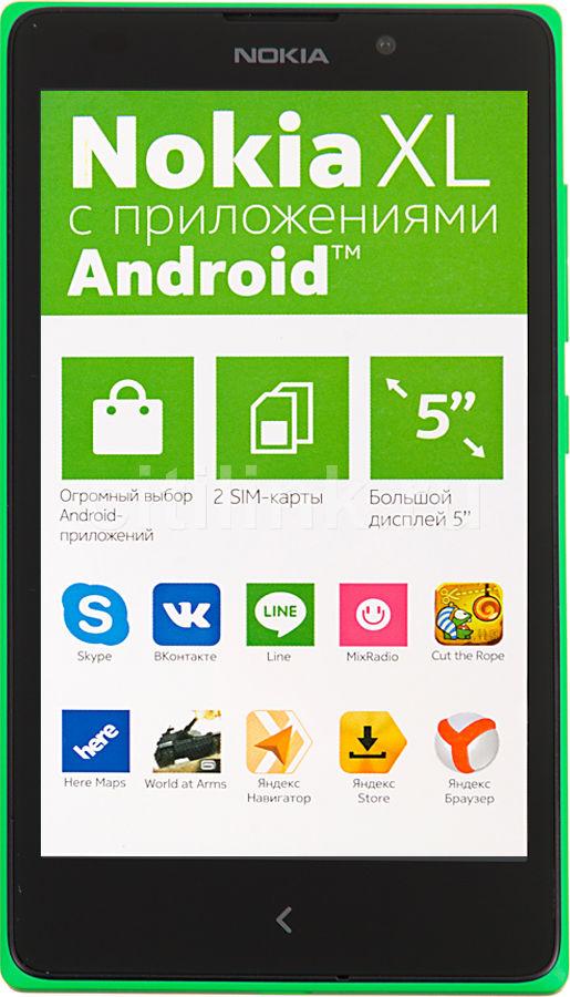 Смартфон NOKIA XL Dual Sim зеленый