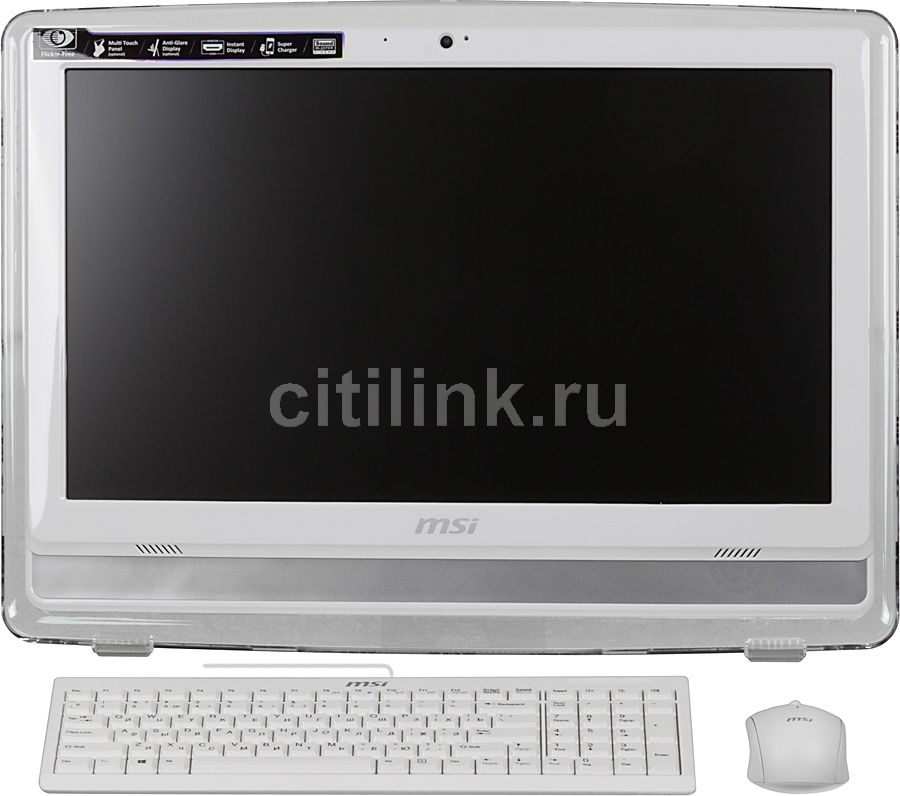 Моноблок MSI AE201-051, Intel Core i3 4150, 4Гб, 500Гб, Intel HD Graphics 4400, DVD-RW, Windows 7 Home Premium, белый [9s6-aa8212-051]