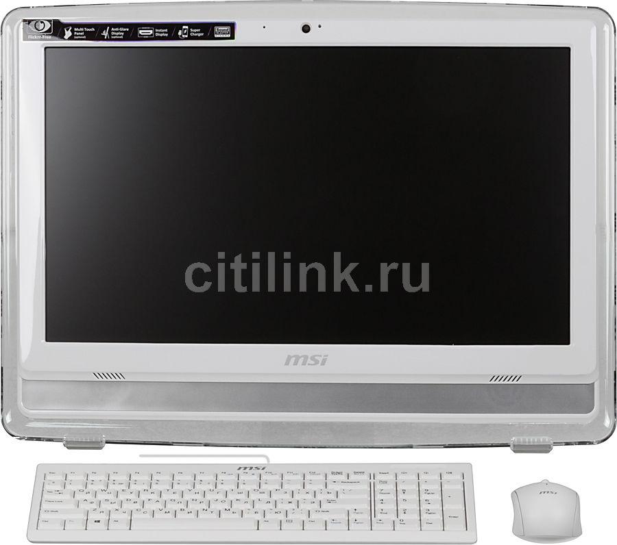 Моноблок MSI AE203G-012, Intel Core i3 4150, 4Гб, 500Гб, nVIDIA GeForce GT740M - 2048 Мб, DVD-RW, Free DOS, белый [9s6-aa8a12-012]