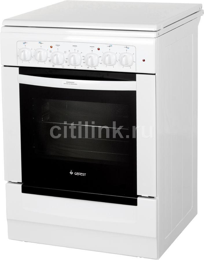 Электрическая плита GEFEST 6140-02,  эмаль,  белый [эпнд 6140-02]