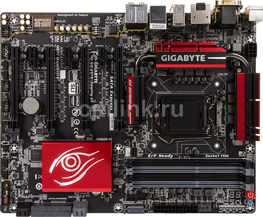 Материнская плата GIGABYTE GA-Z97X-Gaming GT LGA 1150, ATX, Ret