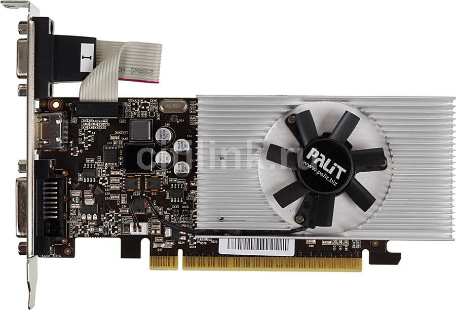 Видеокарта PALIT nVidia  GeForce GT 740 ,  PA-GT740-2GD3,  2Гб, DDR3, Low Profile,  oem [neat7400hd41-1070f bulk]