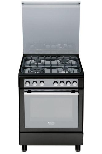 Газовая плита HOTPOINT-ARISTON CX65S72 (A) IT/HA H,  электрическая духовка,  серебристый