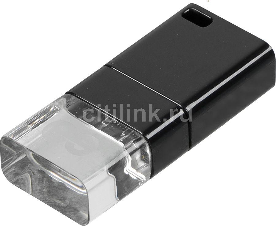 Флешка USB LEEF Ice 16Гб, USB3.0, черный [lfice3.0-016bsr]