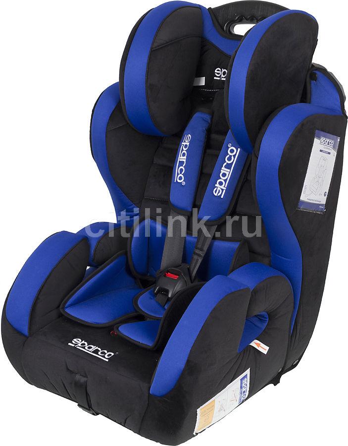 Автокресло детское SPARCO F 700 K, 1/2/3, черный/синий [spc/dk-300 bk/bl]