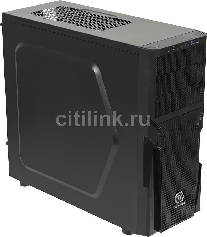 Корпус ATX THERMALTAKE Versa H21, Midi-Tower, без БП,  черный