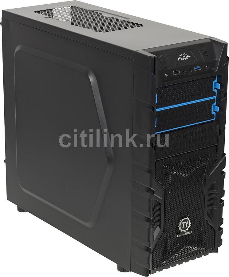 Корпус ATX THERMALTAKE Versa H23, Midi-Tower, без БП,  черный