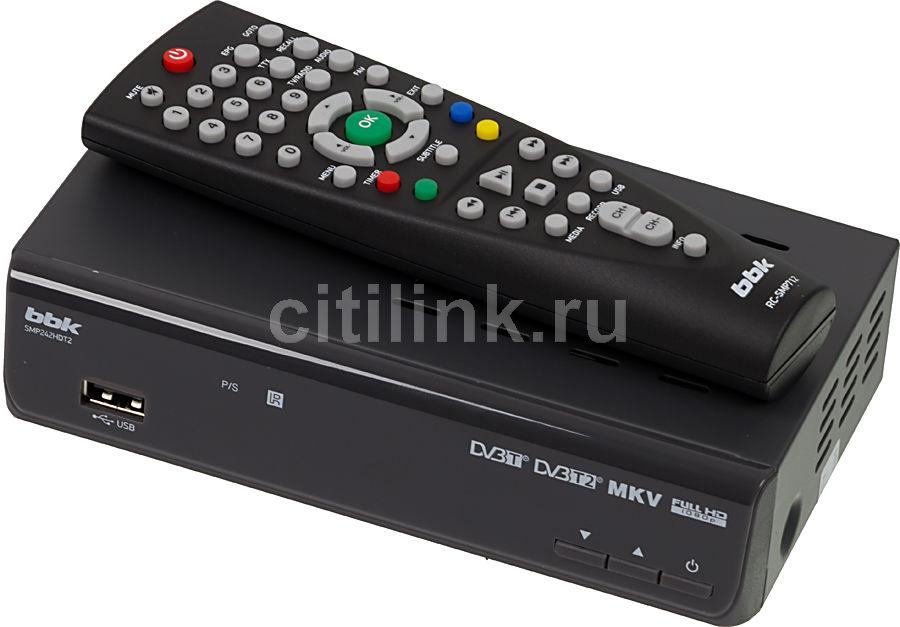 Ресивер DVB-T2 BBK SMP242HDT2,  темно-серый