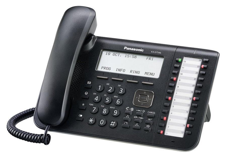 Системный телефон PANASONIC KX-DT546RUB черный [kx-dt546ru-b]