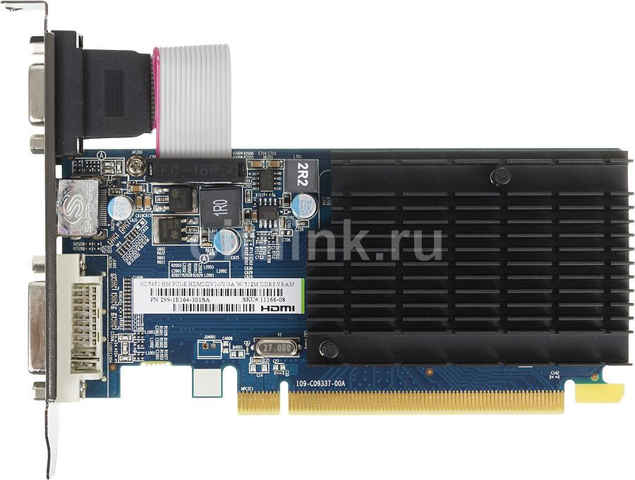 Видеокарта SAPPHIRE Radeon HD 5450,  11166-08-10R,  512Мб, DDR3, Low Profile,  oem